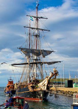 tres hombres, brigantie. European sailing leg, Copenhagen to Yarmouth, Quetzal Shipping and Trading